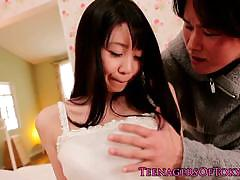 Hairy japanese teen with nice big tits gets fucked