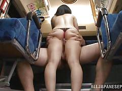 Train sex for japanese girl
