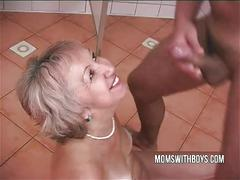 cumshot, facial, european, blowjob, mature, old, shower, mom, granny, mother, momswithboys