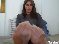 Take off my stinky socks using only your teeth