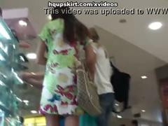 Best upskirt of sexy teen shopping