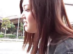 Cute asian teen upskirt video