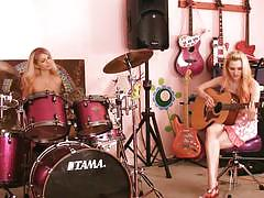 Jana jordan and jayme langford playing instruments