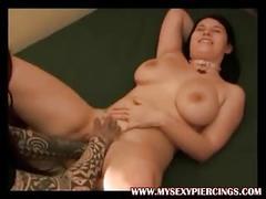 Pierced british slut fisted in her metal pierced pussy