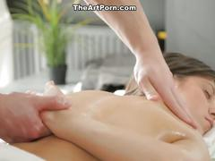 Deep pussy massage with cock