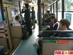Censored japanese bus trio