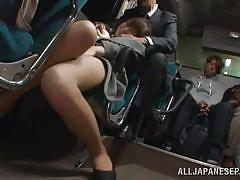Momo masturbates on the bus