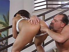 Hot brunette works ass for a hardcore fuck