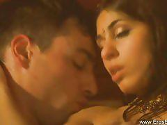 Sensual brunette gets massaged and fucked