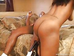 Black pussy shaves and sucks cock