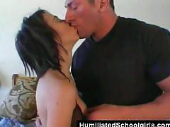 Surprise dp for young slut
