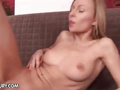 Schoolgirl lilian uses dildos in her both holes