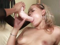 Horny lesbian babes playing