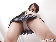 A school girl's panties