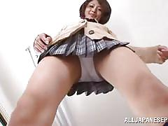 tease, solo, sexy, brunette, classroom, japanese schoolgirl, white panties, j school girls, all japanese pass, yuuki natsume