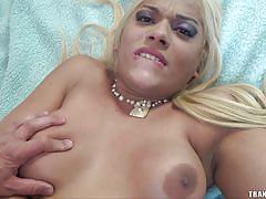 cumshot, anal sex, pov, blonde shemale, with condom, tranny pov, tranny access, karla desejo