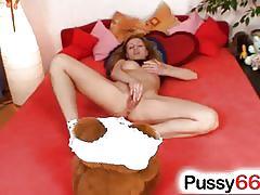 Cute olga barz pussy stretching