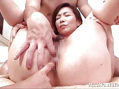 Asian mom ass fingered