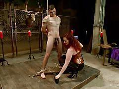 milf, redhead, mistress, domination, blowjob, big boobs, rope bondage, cock & ball torture, divine bitches, kink, mz berlin, jake jammer