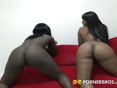 2 wild black bitches show their cocksucking skills