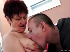 Naughty grandmas and young men sex compilation