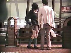 Asian couples misbehave in public