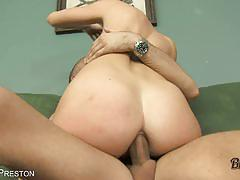 Brunette chanel preston gets assfucked very hard