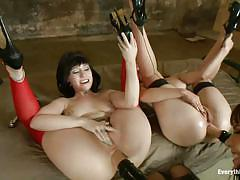 milf, fisting, high heels, kinky, lesbian threesome, brunette, brunettes, everything butt, kink, dana dearmond, claire robbins, proxy paige