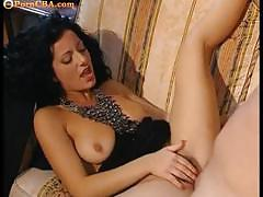 Milf with hairy pussy hungry for fuckign action