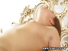 Amateur chick banged and jizzed