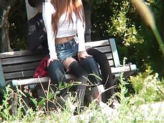 Japanese voyeur fuck in the park