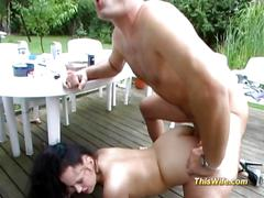 Busty lady anal fucked at meeting