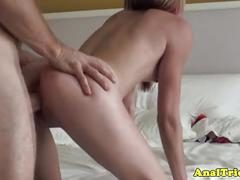 Anal loving gf ass and pussy pounded