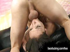 Lola vaughn letting a white guy face fuck her