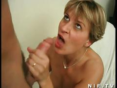 Hot blonde milf enjoys hard pounding in both holes