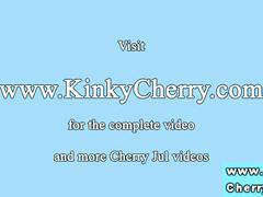 Zoe and cherry jul dildo play
