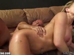 Three immoral babes share a guy's dick
