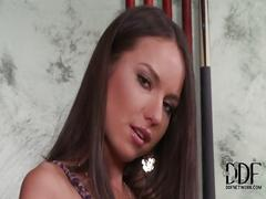 Hot russian babe nataly gold shows her meaty pussy in doggy