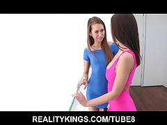 Reality kings - reily reid and gets her ass licked by gf