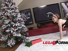 Lucianna karel or timea bella - christmast cums early bunny maid