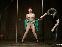 milf, bdsm, spanking, redhead, mistress, pussy torture, metal clamps, nipple torture, device bondage, kink, sarah blake