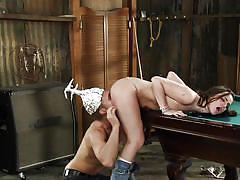 Crazy fucker licks her butt
