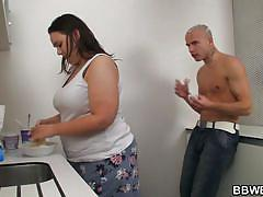 Big beauty fucked in the kitchen