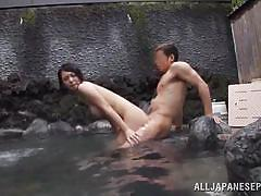 japanese, blowjob, hot spring, titjob, fuck from behind, wet body, outdoor jp, all japanese pass