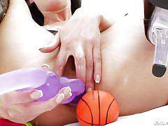 babe, brunette, extreme anal, anal insertion, oiled ass, sex toys, latex boots, anal acrobats, evil angel, timo hardy, hotkinkyjo
