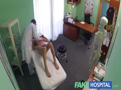 Fakehospital doctor gives a strong orgasm to fit young girl for her birthday