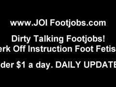 I've always wants to give a guy a footjob