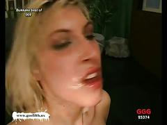 Hot blonde cyndi bukkake session