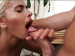 Hot busty blonde milf sucks and fucks hardcore