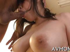 Milf gets bent and she loves the pussy fondle
